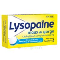LysopaÏne Comprimés à Sucer Maux De Gorge Sans Sucre 2t/18 à COLLONGES-SOUS-SALEVE