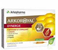 Arkoroyal Dynergie Ginseng Gelée Royale Propolis Solution Buvable 20 Ampoules/10ml à COLLONGES-SOUS-SALEVE
