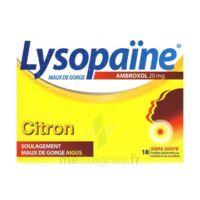 LysopaÏne Ambroxol 20 Mg Pastilles Maux De Gorge Sans Sucre Citron Plq/18 à COLLONGES-SOUS-SALEVE
