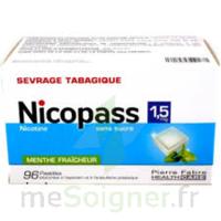 Nicopass 1,5 Mg Pastille Sans Sucre Menthe Fraîcheur Plq/96 à COLLONGES-SOUS-SALEVE