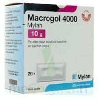 Macrogol 4000 Mylan 10 G, Poudre Pour Solution Buvable En Sachet-dose à COLLONGES-SOUS-SALEVE