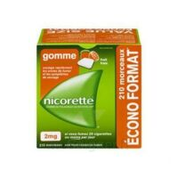 Nicorette 2 Mg Gomme à Mâcher Médicamenteuse Sans Sucre Fruits Plq/210 à COLLONGES-SOUS-SALEVE