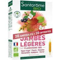 Santarome Bio Jambes Légères Solution Buvable 30 Ampoules/10ml à COLLONGES-SOUS-SALEVE